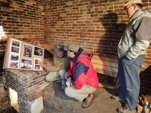 Orlando Ridout is shown in 2010 studying one of the many buildings he researched, the Wye House Orangery.